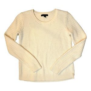 Banana Republic Cream Shimmer Sweater Medium